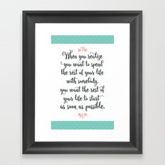 Quote from When Harry Met Sally Framed Art Print