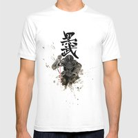 Darth In Dark Mens Fitted Tee White SMALL