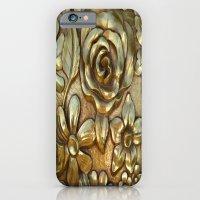 Golden Rose Pattern Art iPhone 6 Slim Case
