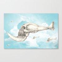 flying piranha Canvas Print