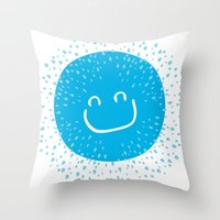 Big smile like sunshine Throw Pillow