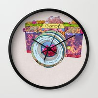Floral Canon Wall Clock