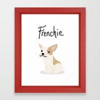 Frenchie - Cute Dog Series Framed Art Print