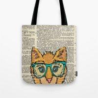 Orange Kitty Cat Tote Bag