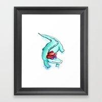 Krokodille Framed Art Print