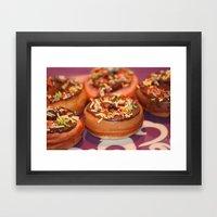Funny Doughnuts Framed Art Print