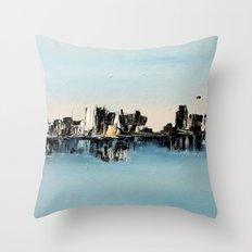 une ville ailleurs Throw Pillow
