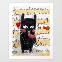 A Cat's Thoughts Art Print