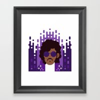 Purple Rain Framed Art Print