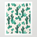 Cactus by Andrea Lauren Art Print