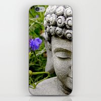 Peace Through Flowers iPhone & iPod Skin