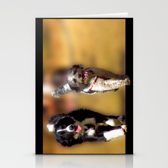 two dogs Stationery Card