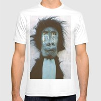 Blue Baboon Mens Fitted Tee White SMALL