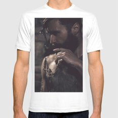 in darkness, there is light Mens Fitted Tee SMALL White