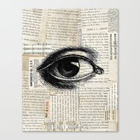 Vintage Eye Canvas Print