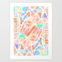 Pastello Peach Art Print