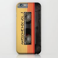 iPhone Cases featuring Awesome Mix Vol. 1 - Guardians of the galaxy by Nicklas Gustafsson