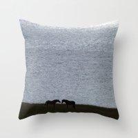 Loving horses Throw Pillow