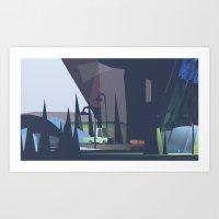 Underneath An Overpass Art Print