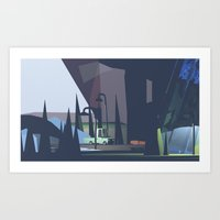 Underneath An Overpass Art Print