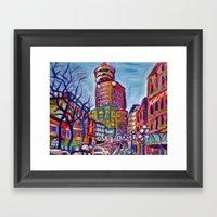 Harbour Centre From Gast… Framed Art Print
