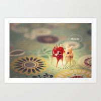 hello my deer Art Print
