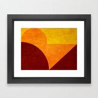 Abstract Sunset Circles Framed Art Print