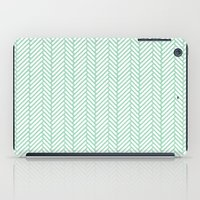 Herringbone Mint iPad Case