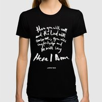 Isaiah 58:9 Womens Fitted Tee Black SMALL