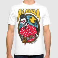 Dead Elvis Mens Fitted Tee White SMALL