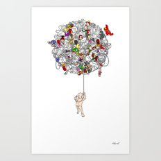 Global Connections (White Background) Art Print