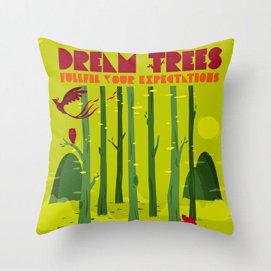 Dream Trees Throw Pillow