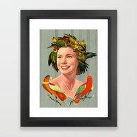 Bird's Nest Hair Framed Art Print