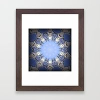 Polished Stone Metal Element Mandala Framed Art Print