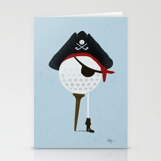 Pirate of the Open Tees Stationery Card