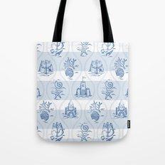 Sandcastle Nautical_Pattern Tote Bag