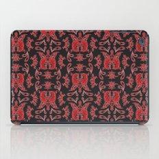 Red & Black Slavic Patterns iPad Case