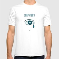 Deep Vibes Mens Fitted Tee White SMALL