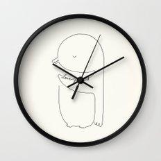 Love Yourself Penguin Wall Clock