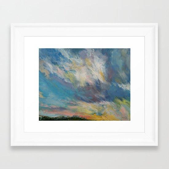 Clouds at Sunset Framed Art Print
