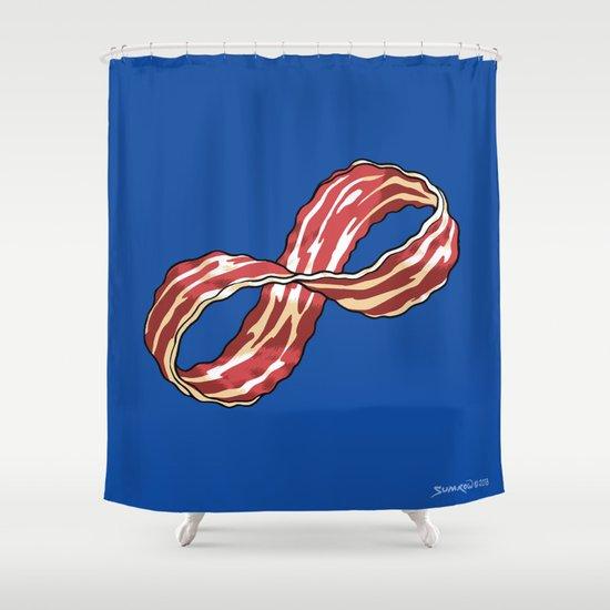 Infinite Bacon Shower Curtain