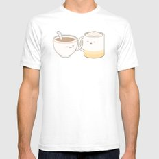 coffee, tea.. everything is fine by me! Mens Fitted Tee SMALL White