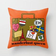 Wanderlust Queen Throw Pillow