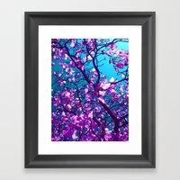 Purple Tree XXIV Framed Art Print