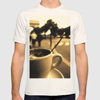 Mon Paris - Un Café à … Mens Fitted Tee Natural SMALL