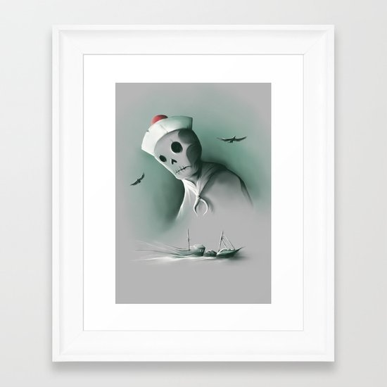 Wreckage of the past Framed Art Print