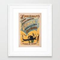 Vintage Theatrical Poste… Framed Art Print
