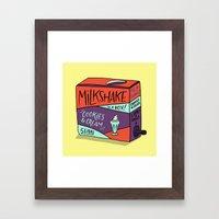 Boxed Milkshake Framed Art Print