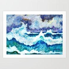 Stormy Sea Art Print