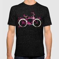 Butterfly Bicycle Mens Fitted Tee Tri-Black SMALL